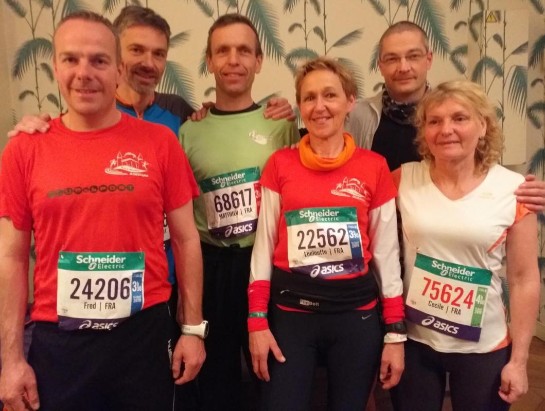Le groupe des marathoniens